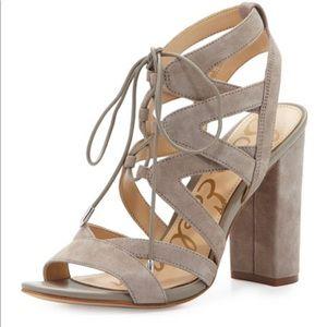 Sam Edelman Yardley Lace Up Block Heel Sandal